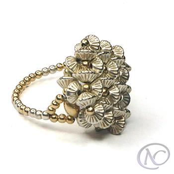 Anillo Sterling silver & gold filled Mme Dupont