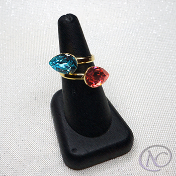 Swarovski Elements & Sterling Silver gold tone Ring