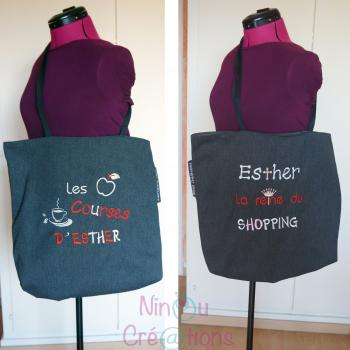 Embroidered message bag