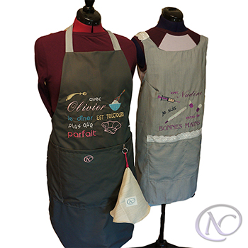 Custom embroidered aprons