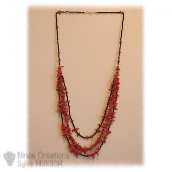 Gemstones and seed beads Long necklace