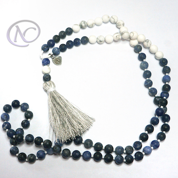 Sodalite & howlite Long necklace