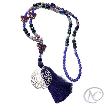 Purple and blue Long necklace
