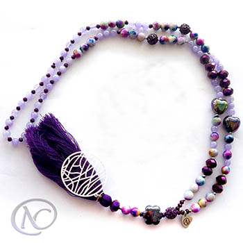 Purple boho Long necklace